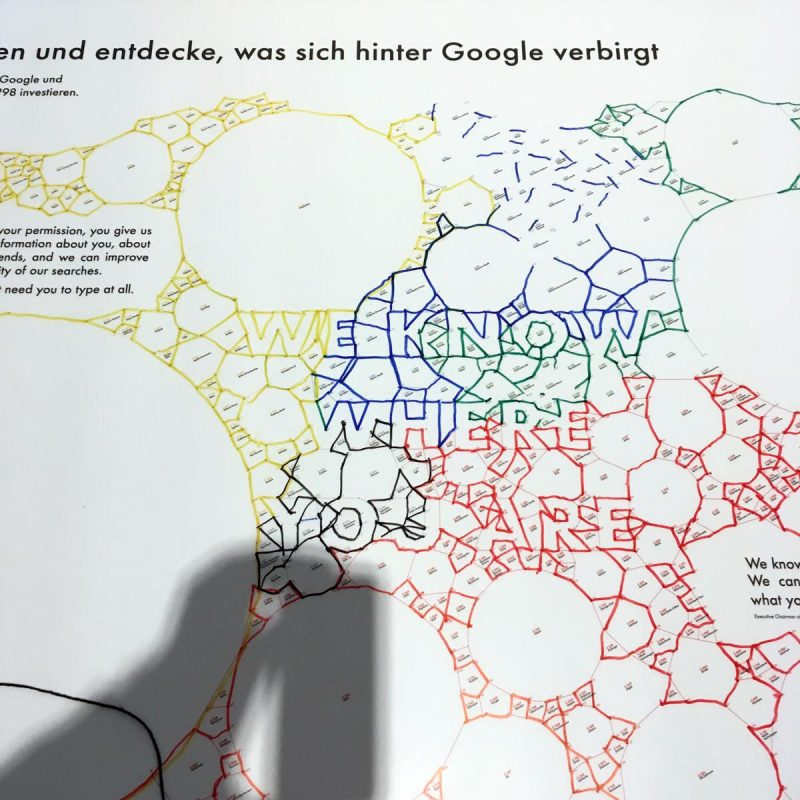 We know where you are, Ausstellungsansicht Glass Room Experience / Tactical Tech