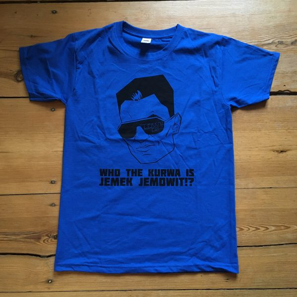 Jemek Jemowit's Polophobia 2020 T-Shirt in Cool Blue