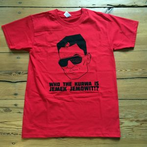 Jemek Jemowit's Polophobia 2020 T-Shirt in Flame Red